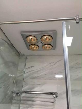 Đèn sưởi nhà tắm Heizen 4 bóng HE-4BR, có điều khiển
