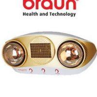 Đèn sưởi nhà tắm Braun BU16, có quạt thổi