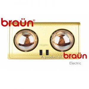 Đèn sưởi Braun 2 bóng BU02