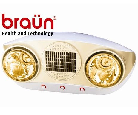 Đèn sưởi nhà tắm Borg Braun BU16, có quạt thổi