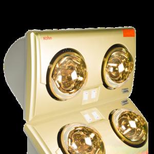 Đèn sưởi nhà tắm KOHN BRAUN KU02G loại 2 bóng