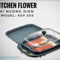 Vỉ nướng điện đa năng Kitchen Flower KEP306