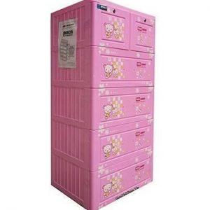Tủ nhựa Song Long Panda 5 tầng 6 ngăn