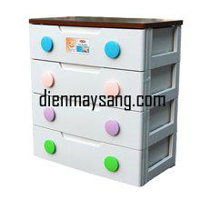 Tủ nhựa 4 tầng 4 ngăn Song Long Baby TBB-4