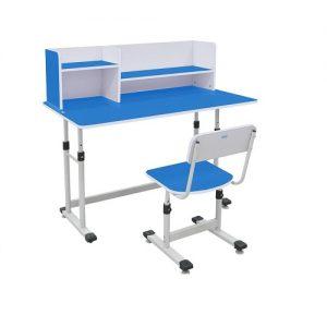 Bộ bàn ghế học sinh có giá sách BHS-13-07