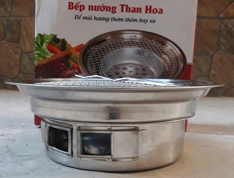 Bếp Nướng Than Hoa Đặt Âm Bàn Cho Quán Nướng BBQ