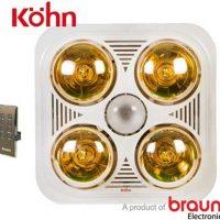 Đèn sưởi nhà tắm Braun BU04GR, điều khiển
