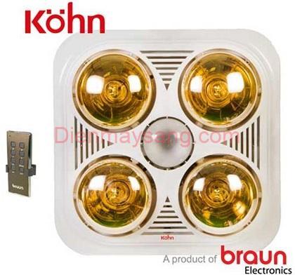 Đèn sưởi nhà tắm Kohn Braun BU04GR, điều khiển