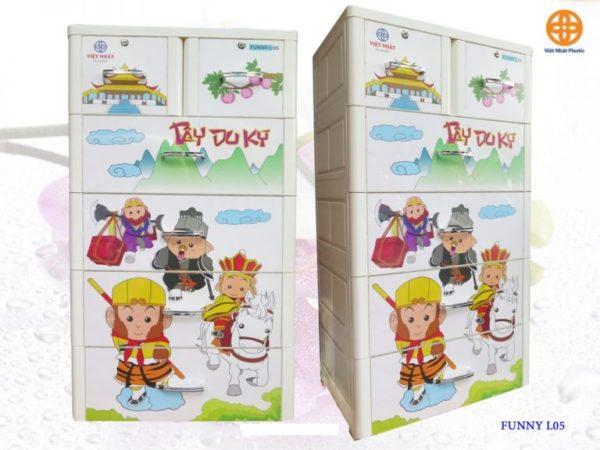 Tủ Nhựa Việt Nhật FUNNY 5 Tầng