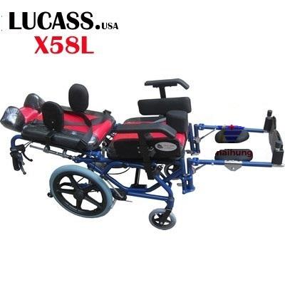Xe lăn cho trẻ bại não Lucass X58L ngả nằm