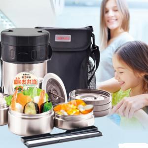 Hộp cơm Inox giữ nhiệt Tafuco Nhật bản – 4 ngăn – 2.3lit