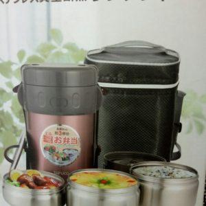 Hộp cơm giữ nhiệt inox Tafuco Nhật bản – 3 ngăn – 2lit