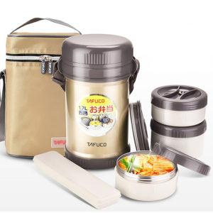 Hộp cơm giữ nhiệt Tafuco Nhật bản – 3 ngăn 1,7l
