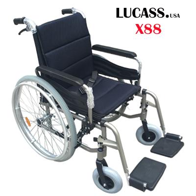 Xe lăn hợp kim nhôm Lucass X88