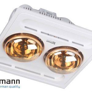Đèn sưởi Kottmann 2 bóng âm trần K9-R, điều khiển