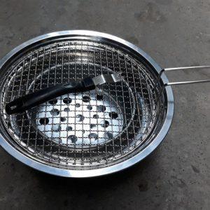 Bếp Nướng Than Hoa Âm Bàn BBQ, vỉ có tay