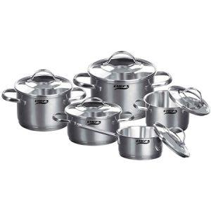 Bộ nồi từ 5 chiếc inox Chefs EH-CW5304