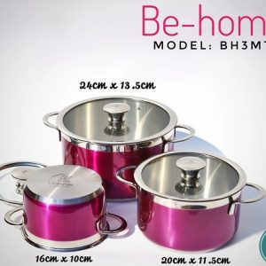 Bộ nồi Inox Be-home 3 chiếc BH3MT