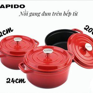 Bộ nồi gang đun trên bếp từ Apido